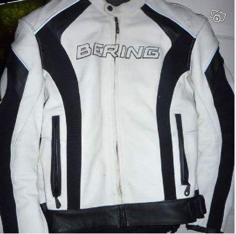 Blouson moto femme bering blanc