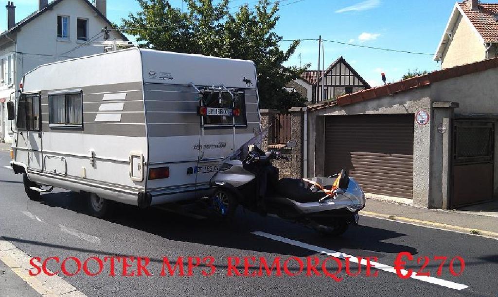 scooter mp3 remorque 270 62 pas de calais calais. Black Bedroom Furniture Sets. Home Design Ideas