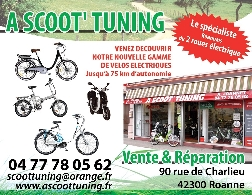 Concessionnaire / Garage / Magasin Moto, Scooter, Quad, Buggy / SSV A SCOOT TUNING à ROANNE